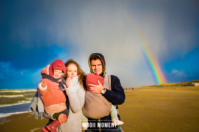 Familie reportage aan het strand van Bergen aan zee