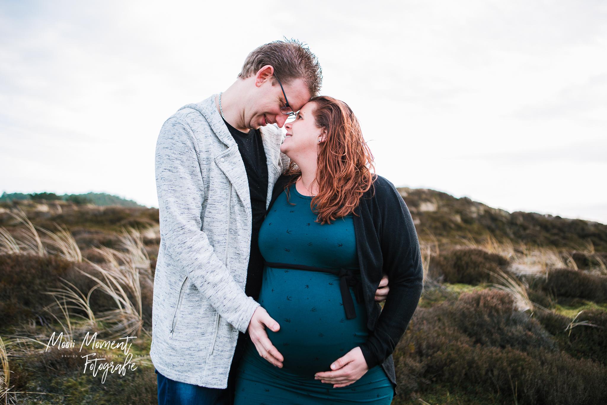 Zwangerschaps reportage op de heide