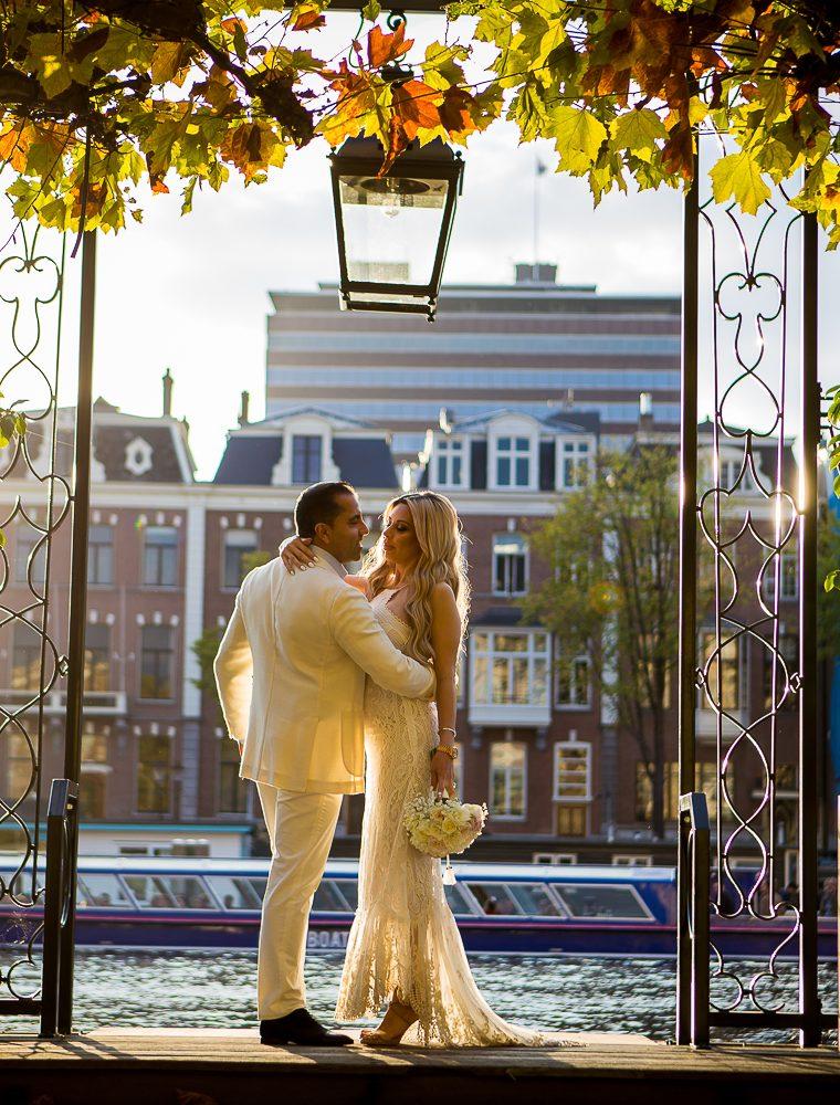 Knusse bruiloft Amstel hotel in Amsterdam